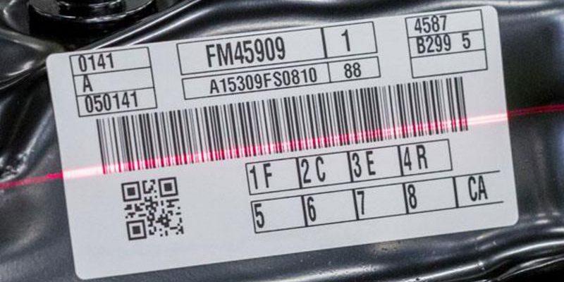 une étiquette de code à barres est lue