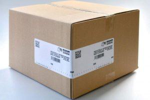 Emballage carton avec une impression/pose d'une étiquette
