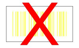 code-barres jaune blanc