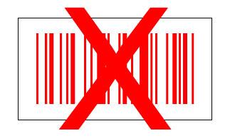 code à barres rouge blanc
