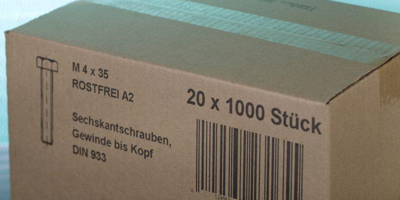 Markoprint inkjet print on carton box