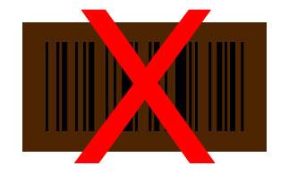 code à barres brun noir