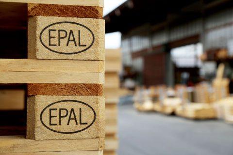 euro-palette avec le marquage EPAL